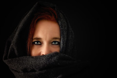75/365: In the dark (Liv Annette) Tags: me selfportrait selfie eyes blue woman girl redhead ginger 365 365project norway norge stavanger portrait