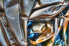 heavy metal-1 (albyn.davis) Tags: sculpture abstract art cesar museum metal shiny light colors blue gold yellow