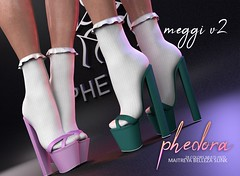 "Phedora for Kustom9 - ""Meggi V2"" heels (Celena Galli ~ phedora.) Tags: secondlife second life sl phedora mesh 3d shoes heels pumps womenswear footwear originalcontent sexy classy cute chic kawaii kinky kustom9 fashion fair event monthly 100mesh sassy style shopping shopaholic addict maitreya slink belleza 28colors"