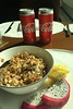 muesli, pinapple, dragon fruit, and diet coke (Andrew Caird) Tags: breakfast delhi dragonfruit india muesli pineapple pitaya shangrilaeros uttamnagar in