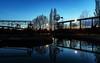 ... mal wieder abends im Landschaftspark Duisburg gewesen. (gabrieleskwar) Tags: outdoor landschaftspark duisburg abends wasser bäume beleuchtung schatten dunkel farbe himmel industriegeschichte industrie lichter niederrhein nrwgermany park ruhrgebiet umrisse