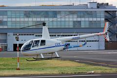 DHC Helicopter Division  Robinson Helicopter R44 Raven  JA105D (cn 1705) (Matthias Harbers) Tags: tokyoheliport kōtō tokyo japan building reflection sky blue nikon1v3 nikkor vr city dxopl topazlabs photoshopelements raw nef helicopter nikon1 nikon170300mmf455 dxo flighing airport