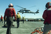 180306-N-ZS023-034 (U.S. Pacific Fleet) Tags: ussamerica lha6 amphibiousassaultship sailors people usnavy usmc marines cpr3 comphibron3 commanderamphibioussquadron 15thmeu marineexpeditionaryunit arg aarg amaarg ama americaarg amphibiousreadygroup deployment 7thfleet areaofoperations aoo helicopter seahawk mh60sseahawk hsc23 ammooffload ordnance flightdeck air flightops pacificocean