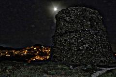Foggy Night (antoramp) Tags: torredelpozzo hdr torre sardegna sardinia night nightlife moon luna notte sentiero
