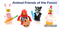 Animal Friends of the Forest (WhiteFang (Eurobricks)) Tags: lego collectable minifigures series city town space castle medieval ancient god myth minifig distribution ninja history cmfs sports hobby medical animal pet occupation costume pirates maiden batman licensed dance disco service food hospital child children knights battle farm hero paris sparta historic brick kingdom party birthday fantasy dragon fabuland circus