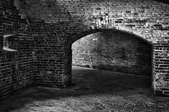 Fort Macon NC - Arches In Monochrome (Modkuse) Tags: nikon nikond nikond700 fortmacon fortmaconnc northcarolina nc nikondslr monochrome bw