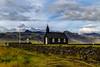 Búðarkirkja No. 3 - Búðir, Iceland (dejott1708) Tags: búðarkirkja búðir iceland ísland church hdr snæfellsnes peninsula mountains clouds
