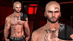 { Hellar } ({ Max Hades }) Tags: head bento eyes beard base face tattoo ears shape body skin aeros swallow barber shop cheeky ink mxhades ar2 style tshirt virile