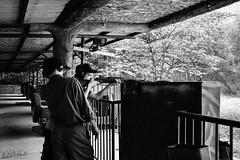 Shooting Range (D. R. Hill Photography) Tags: vietnam asia southeastasia cuchutunnels shootingrange shooting range gun rifle fire firing weapon aim m1 m1garand garand travel vietnamwar war conflict nikon nikond750 d750 voigtlander voigtlandercolorskopar28mmf28 colorskopar 28mm wideangle primelens fixedfocallength manualfocus cosina blackandwhite monochrome