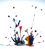 Making a mess,... (Wim van Bezouw) Tags: sony ilce7m2 paint drops pluto trigger plutotrigger highspeed vibration
