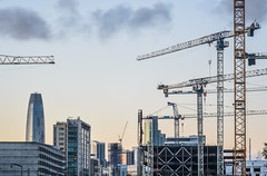 construction skyline (pbo31) Tags: bayarea california nikon d810 color march 2018 winter boury pbo31 sanfrancisco city urban missionbay construction crane chase arena warriors nba sport basketball over view skyline salesforce sky sunset dogpatch