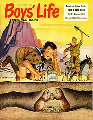 Working for the Uranium Merit Badge -- 1957 (JFGryphon) Tags: craigflessel huntingforuranium meritbadges boyscouts boyslife geigercounter trustworthy loyal obedient cheerful thrifty brave clean helpful courteous kind parody reverent