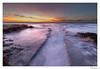 A Way to the Sea (Raul Kraier) Tags: dusk blue rocks channel mediterranean foam shore coast way