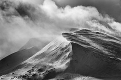 Aonach Mor (Ade G) Tags: bw landscape scotland seasons weather clouds mountains snow storm winter