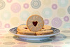 Round and Round! (RiverCrouchWalker) Tags: roundandround smileonsaturday circular circles plate shadow biscuits jammydodgers