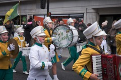 Liverpool St.Patrick's Day Parade, 2018. (f22photographie) Tags: communitygroups green parade streetparade culture paddysday stpatricksdayparade2018 colourful fun cloughaneelyband bands drum streetphotography