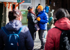 Dancing in the streets (Ian Livesey) Tags: cold minibeast penrith england penrithgoesorange orange cumbria town market uk festival photos photography