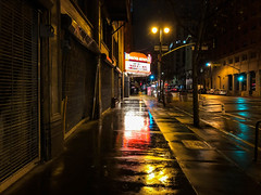 Rainy Night in Downtown Los Angeles (ChrisGoldNY) Tags: chrisgoldphoto chrisgoldny chrisgoldberg forsale licensing bookcovers bookcover albumcover albumcovers california socal cali rain wet city urban dtla downtown losangeles reflection sidewalk filmnoir iphone movietheater cities