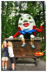 Scheming kids.... (Fotofricassee) Tags: humpty dumpty egg children kids wall frying pan omelet