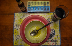 2018 - photo 061 of 365 - mt soup bowl (old_hippy1948) Tags: beer soupbowl pills container placemat pickapeppa