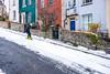 Bristol; February 2018 (Daniel Durrans) Tags: man urban streetphotography beastfromtheeast snowboarding street bristol stokescroft snowmageddon snowboarder canpubphoto candid ninetreehill snow