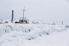 Khoujir harbor - Lake Baikal - Olkhon island (dataichi) Tags: 바이칼호 lake baikal байкал 貝加爾湖 ольхон travel tourism destination outdoors nature ice winter cold siberia russia snow frozen harbor boat freezing white ship landscape khoujir khuzhir хужир