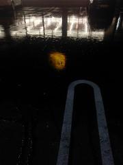 . (Grefuwan) Tags: lidl parking rain reflejo reflect