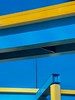 A moment in time looking at the Florida sky and the highways (gbuten) Tags: sky florida highway yellow blue lines abstract
