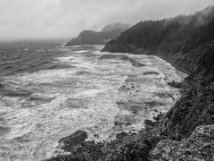Heceta Head from South - Oregon (petechar) Tags: petechar charlesrpeterson landscape ocean hecetahead lighthouse lanecounty oregon highway101 water panasonicg9 leica1260mm ushighway101 rock seacoast