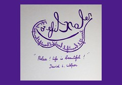« Relax ! Life is beautiful ! David L. Wolper (Calligraphy typography écriture speculaire) Tags: reversewriting artwriting handwriting writing painting artwork art typography typographie calligrafia calligraphy calligraphie proverbe citation quote quotes quotations quotation écriture pensée thought vie life