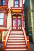 Good Morning (Thomas Hawk) Tags: america bayarea california mission missiondistrict sf sfbayarea sanfrancisco usa unitedstates unitedstatesofamerica westcoast architecture stairs fav10 fav25
