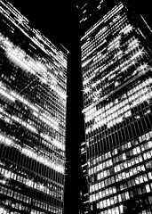 Toronto Dominion Centre Night (thelearningcurvedotca) Tags: toronto ontario canada canadian torontodominioncentre tdcentre wellington above abstract architecture background blackwhite blackandwhite briancarson building chrome city concept design district downtown environment experimental exterior facade financial geometric glass high historic history icon landmark light lines metal metallic minimal mirror modern monochrome night office outdoor outdoors pattern perspective reflection sky skyscraper square steel street structure thelearningcurvephotography texture tower urban wall window