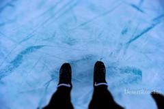 Skates vs Frozen Lake (1DesertRose) Tags: xt20 fujifilm snow icy season view scene sport fun let'splay hockey iceskating skates winter cold alberta canada lakelouise lake frozenlake frozen ice