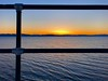 Rule of thirds iPhone X style (LEXPIX_) Tags: sunset afterglow water lake champlain grid lines railing iphone ten lexpix