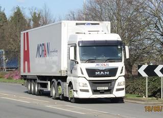 Moran logistics MV65 UFY at Welshpool