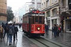 Istiklal Caddesi Tram (lazy south's travels) Tags: istanbul galata turkey turkish tram track line urban city centre center red istiklal street road scene tunel beyoglu 115 tramcar car rolling stock