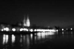 Regensburg bokeh city view (mripp) Tags: art vintage retro old night nacht bokeh kunst regensburg unesco world heritage site bavaria bayern donau danube river leica q europe silhouette