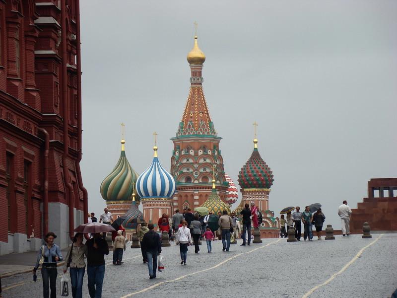 фото: Вид на собор Василия блаженного