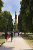 Avenue of Ashoka Trees towards Qutub Minar (Mike Legend) Tags: india delhi minaret qutub qutb minar