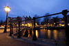 Amsterdam in the blue hour (kalakeli) Tags: leidsegracht keizersgracht amsterdam märz march 2018 bluehour blauestunde nightshots nachtaufnahmen langzeitbelichtung longexposure zaun fence thenetherlands niederlande