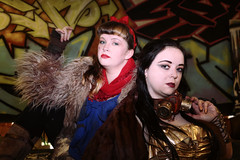 Snow White & Belle (greyloch) Tags: dccosplay cosplay costumes disney postapocalyptic dystopianfuture 2018 snowwhite belle canonrebelt6s topazlabs niksoftware gritphotoshoot
