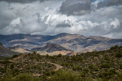 The Winding Road (CEBImagery.com) Tags: arizona canyon clouds hewitt montana mountain mountains sky superstition