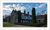 Smithills Hall East Wing (prendergasttony) Tags: manor hall smithills bolton lancashire history nikon d7200 clouds sky tudor blue gate railings blackwhite brickwork