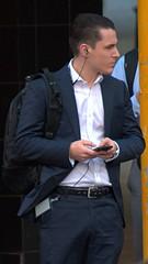 Handsome suit 1 (xelegante) Tags: handsome suit candid businessman