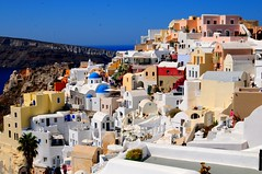 Greek Islands - Santorini - Fira (NNJHA1971) Tags: holidaysinsantorini greece santorini greekislands oia fira beautifulcity streets colours lovely romantic awesome cliffs holiday holidays vacation familyholidays family blue white sea sky