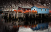 Petty Harbour Launch - recolour (d_carberry) Tags: harbour ocean atlantic maritime village reflection water fujixh1 newfoundland travel