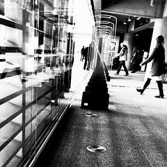 Avoir son double en face de soi... (woltarise) Tags: montréal grande bibliothèque entréesortie berryuqam station iphone6s streetwise