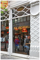 AMERICAN BAR (JRodrigues.) Tags: elements img0261 2016 europe iceland reykjavík streetview cafe showcase reflections people