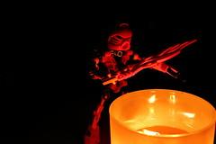 Seeking Warmth (Toa Slim 2014) Tags: tahu candlelight fire toa mata bionicle lego toyphotography toy photography