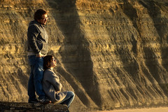 'Consider the Possibilities' (Canadapt) Tags: man woman couple cliffs beach sunset magoito portugal canadapt